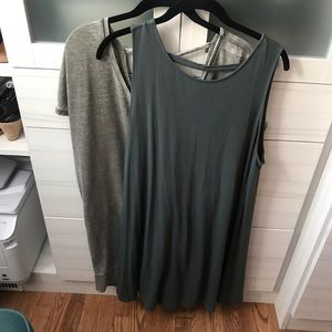 Two Summer casual dresses SZ M and L